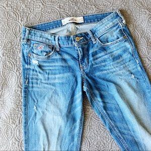 Hollister Destroyed Denim Jeans, Size 5R / 27